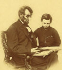 Picture of Abraham Lincoln with his Son Tad